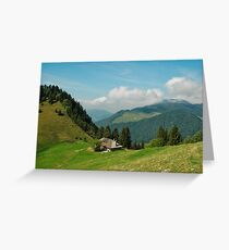 Chalet on the ridge Greeting Card
