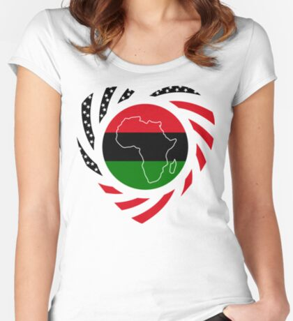 Black Murican Patriot Flag Series 2.0 Fitted Scoop T-Shirt