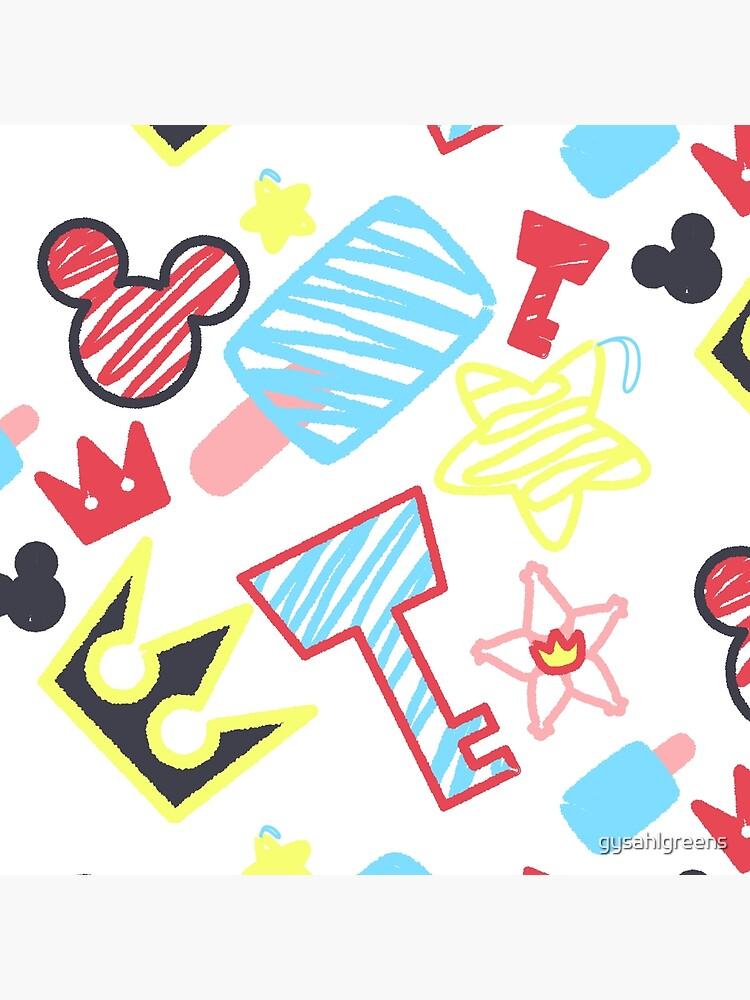 Kingdom Hearts crayon style drawings by gysahlgreens