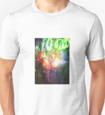 Sparkly Flower Explosion in Rainbow T-Shirt