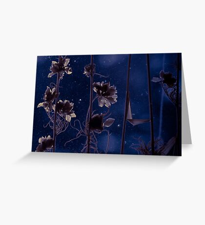 Flowers in the dark Greeting Card