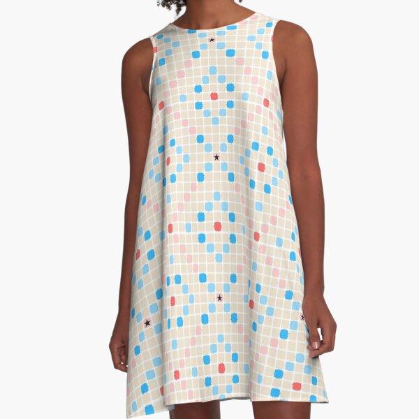 Triple Word Score A-Line Dress