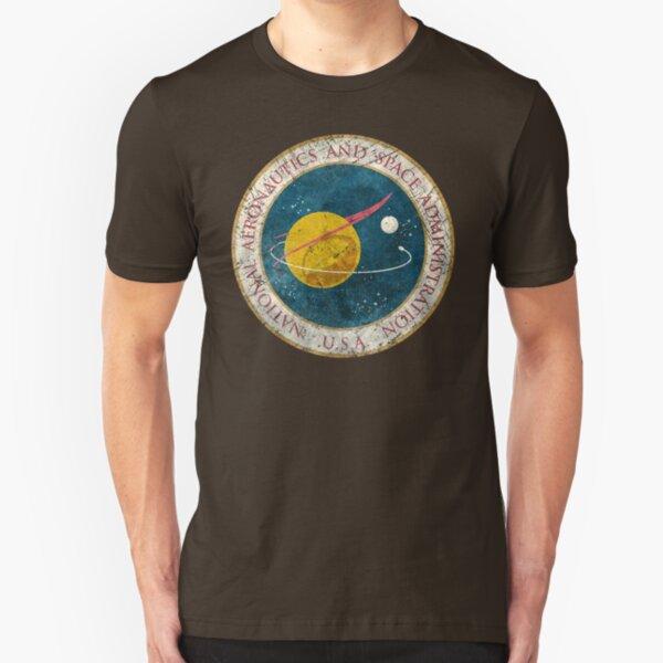 NASA Vintage Seal Slim Fit T-Shirt