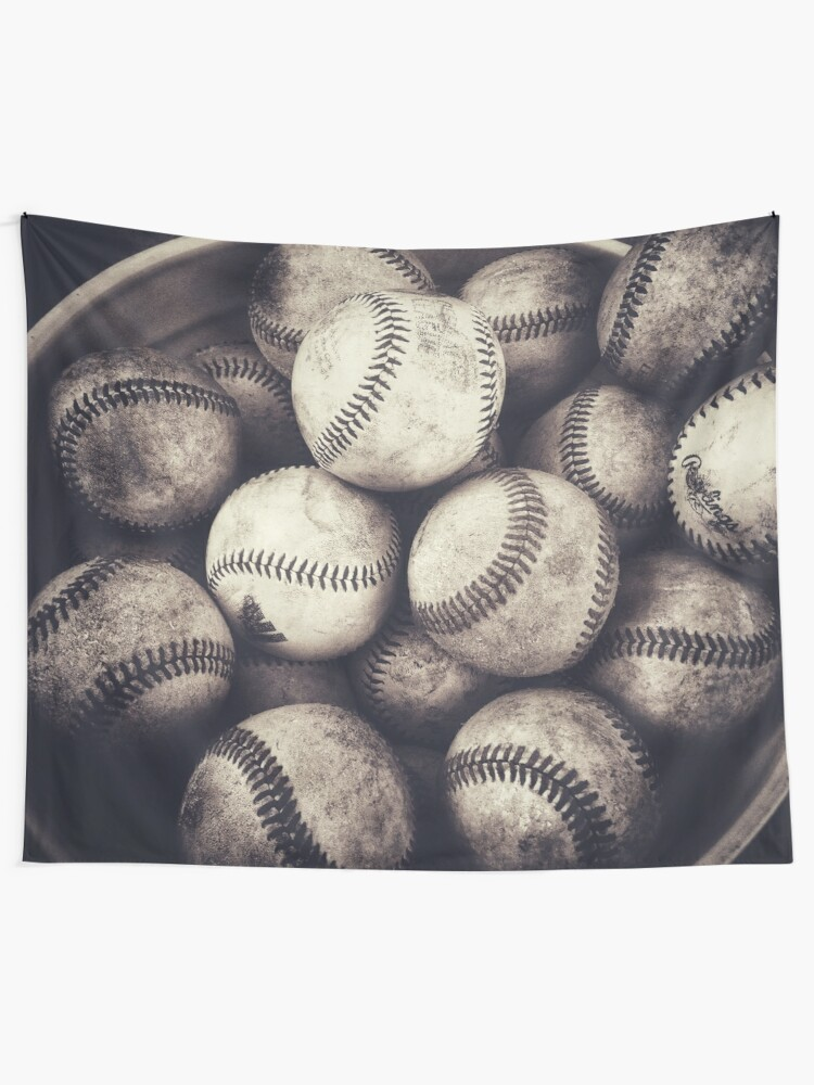 Alternate view of Bucket of Baseballs  Tapestry