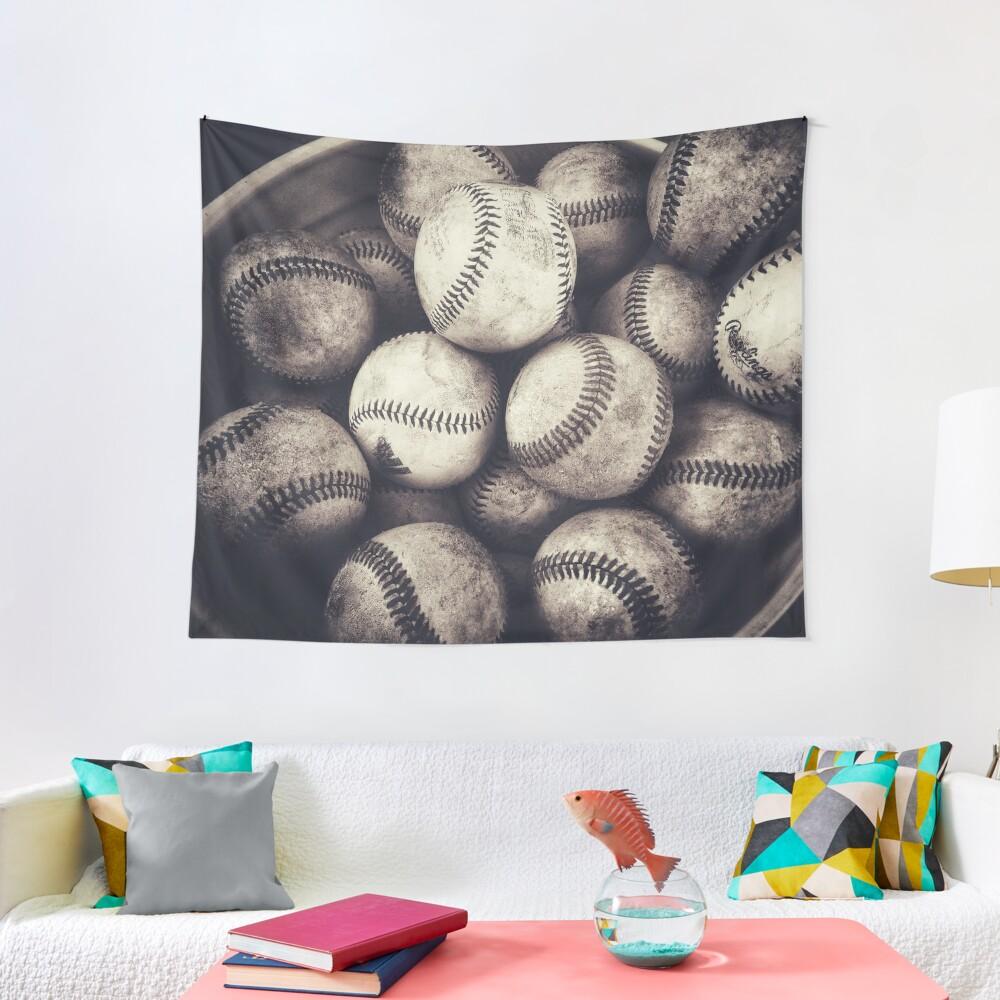 Bucket of Baseballs  Tapestry