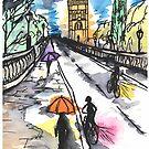 Oxford in the rain by DaniEdmunds