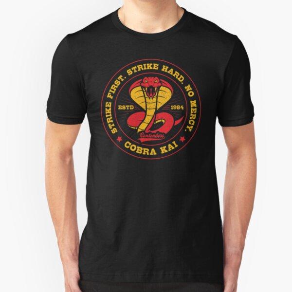 Cobra Kai No Mercy Logo Slim Fit T-Shirt