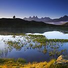 Morning in the alps, Oisans, france by Willy Vendeville