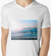 Sunrise in Orange and Blue Skies Men's V-Neck T-Shirt