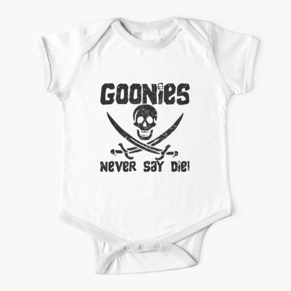 Goonies Never Say Die! Distressed Design For Men, Women, Kids Short Sleeve Baby One-Piece