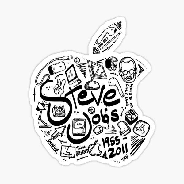 Steve Jobs Tribute 2.0 Black Version Sticker