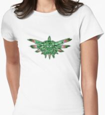 TRIFORCE GREEN SPACE Women's Fitted T-Shirt