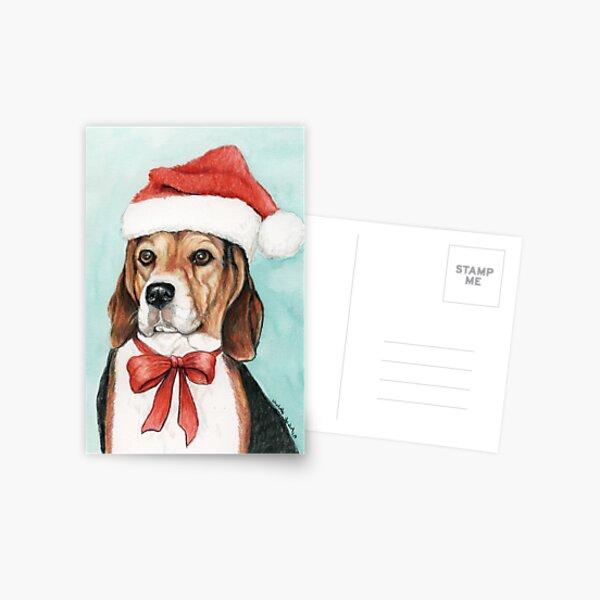 Christmas Beagle Postcard