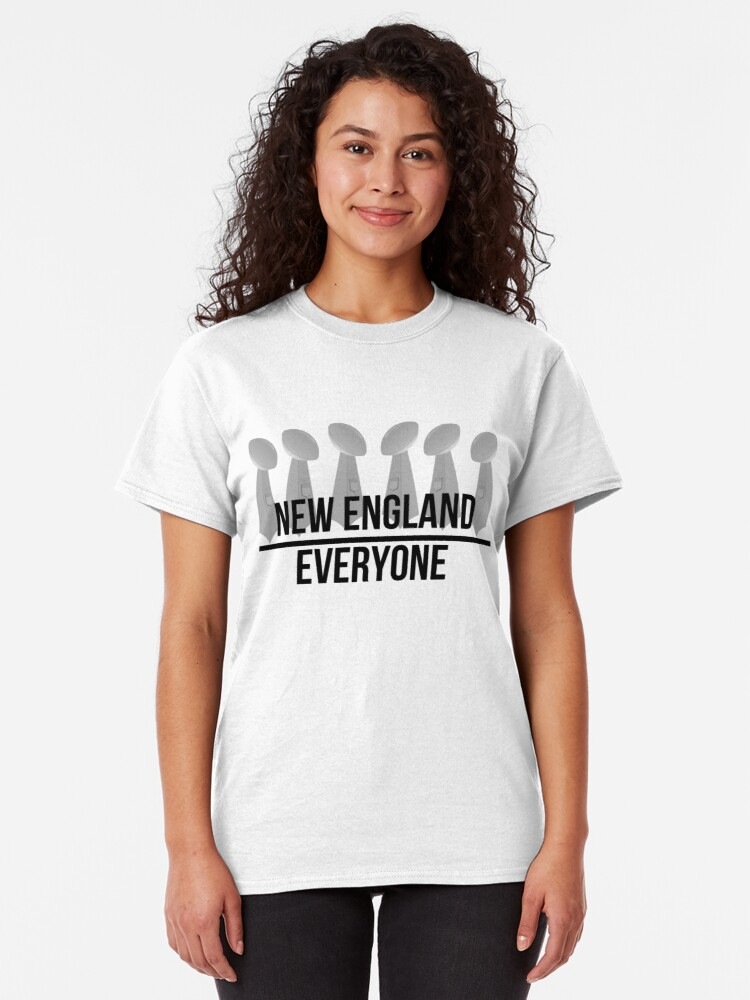 Alternate view of New England over Everyone Classic T-Shirt