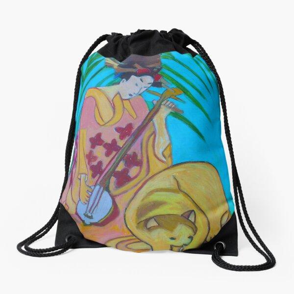 Shamisen: Three Strings  Drawstring Bag