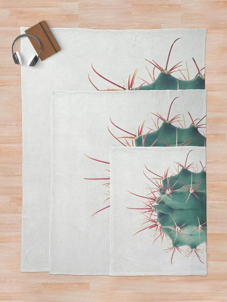 Alternate view of Ferocactus Throw Blanket