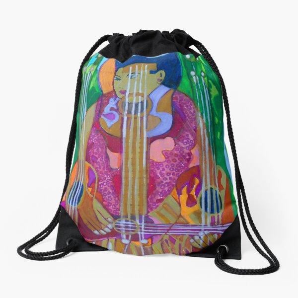 Ukulele: Four Strings  Drawstring Bag