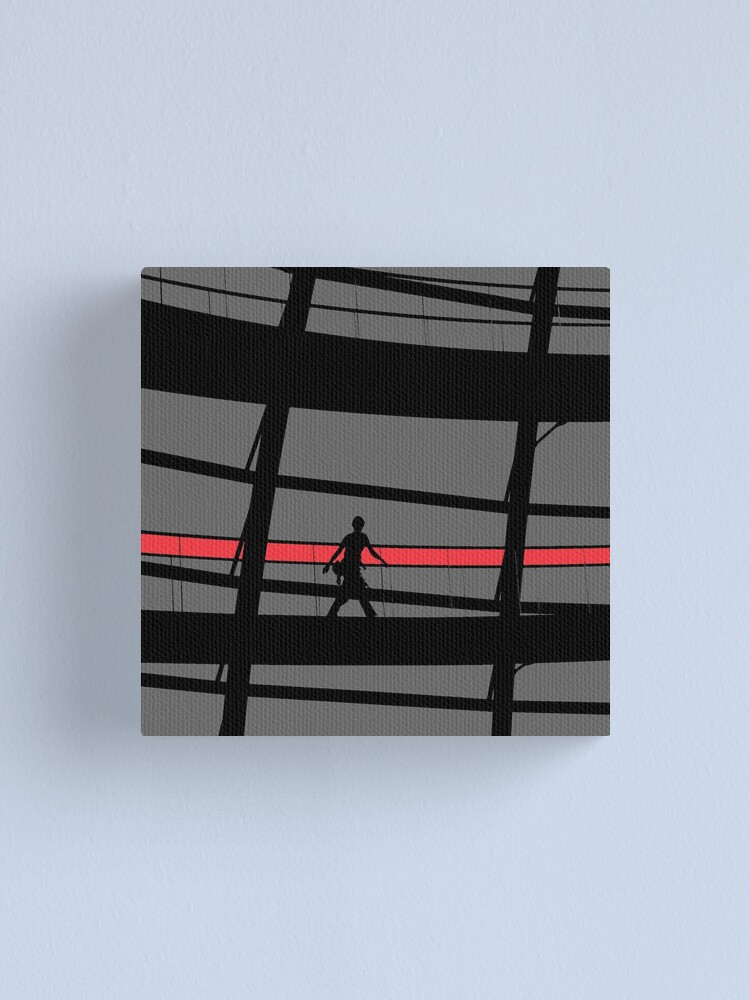 Alternate view of Red Stripe Canvas Print