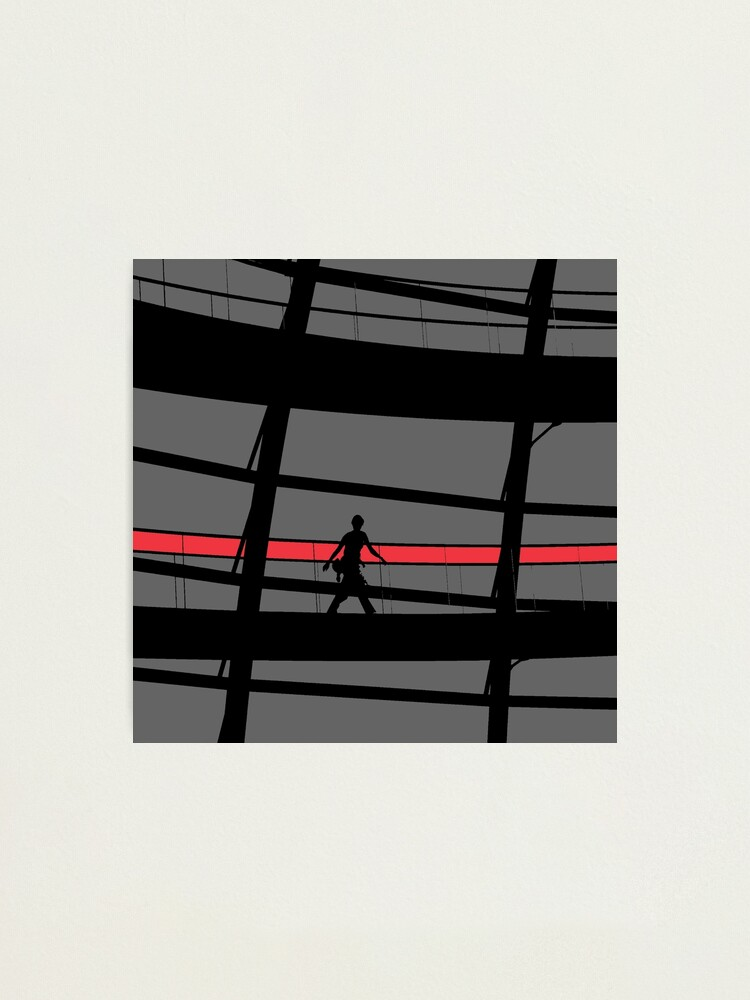 Alternate view of Red Stripe Photographic Print