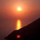 Burning Sea,Riomaggiore,Italy. by Davide Ferrari