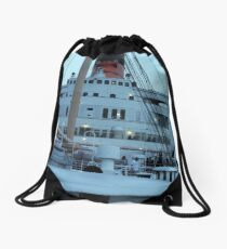 Queen Mary Superstructure  Drawstring Bag