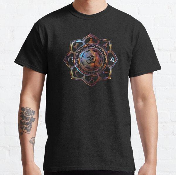 Om Lotus Flower Yoga Poses Classic T-Shirt