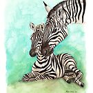 Zebra and Foal by Meaghan Roberts