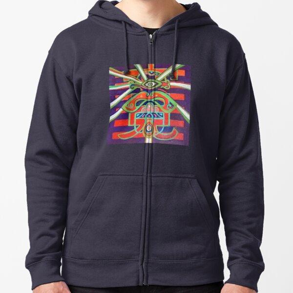 Hexagram 14: Ta Yu (Wealth) Zipped Hoodie