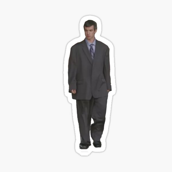 Nathan for You suit sticker Sticker