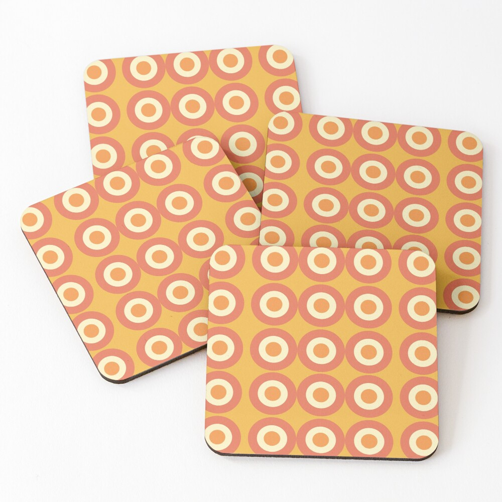 Cool and Groovy pattern design Coasters (Set of 4)
