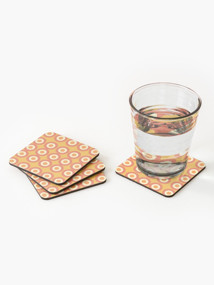 Alternate view of Cool and Groovy pattern design Coasters (Set of 4)