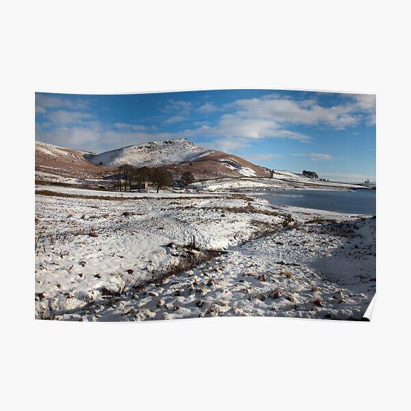 Embsay Crag In Winter Poster
