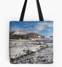 Embsay Crag In Winter Tote Bag