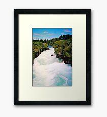 Haku Falls New Zealand Framed Print
