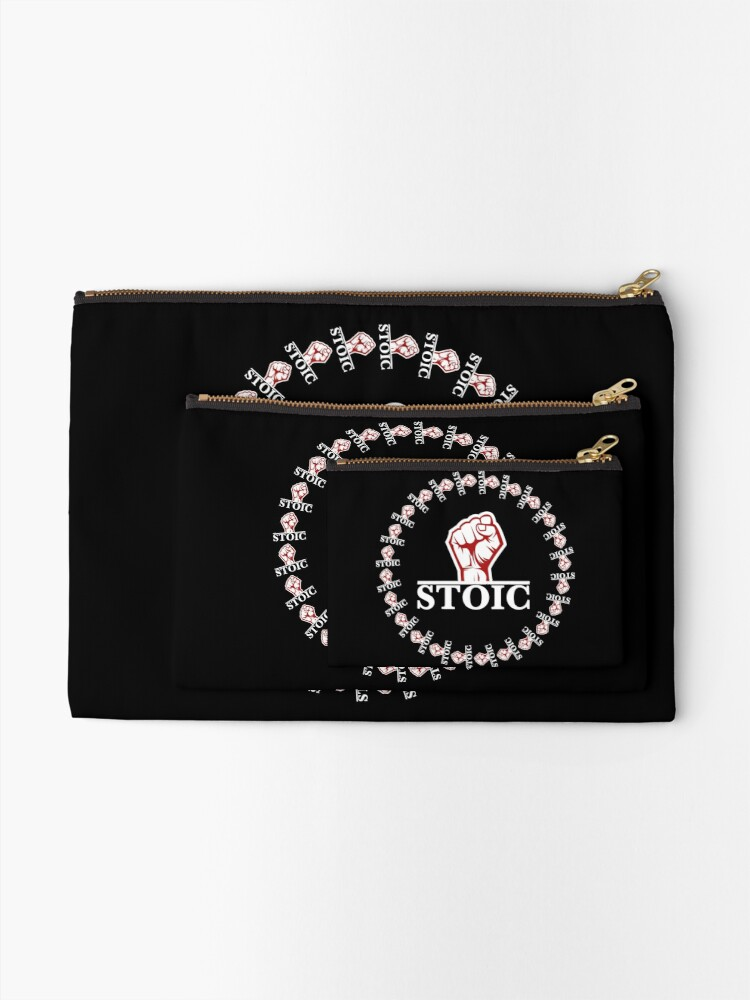 Alternate view of Stoic Rebel - Stoic Rebellion - Fight the Chaos Zipper Pouch