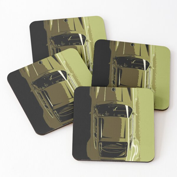 Porsche 911 by Singer and Williams Coasters (Set of 4)