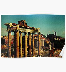 The Forum, Rome, Italy Poster