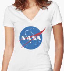 NASA Women's Fitted V-Neck T-Shirt