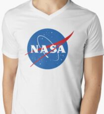 NASA Men's V-Neck T-Shirt
