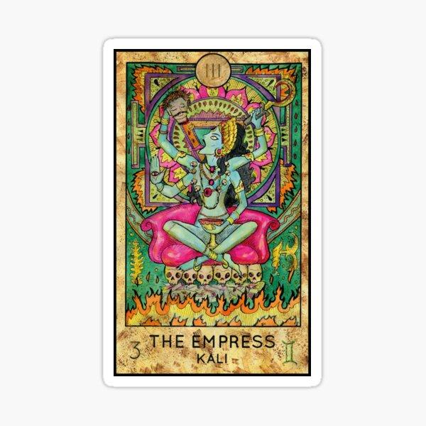 Tarot Card Empress Kali Mystic Psychic Reading Gift Sticker