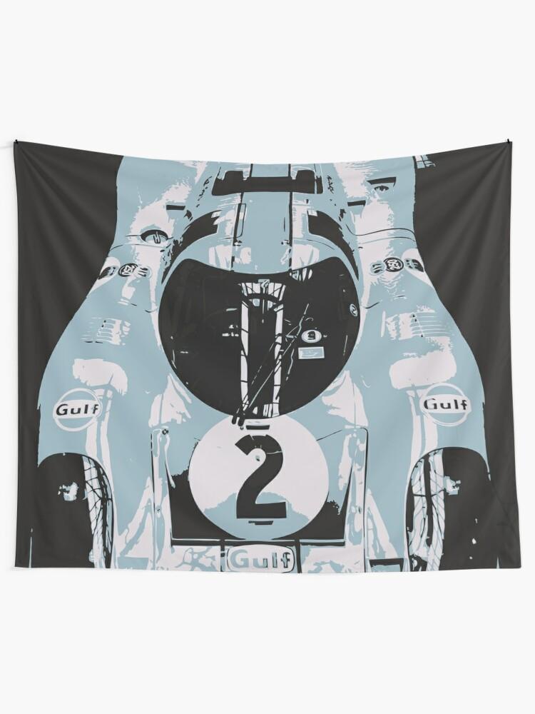 Alternate view of Porsche 917K - RACE CAR - LE MANS - MOTORSPORT Tapestry