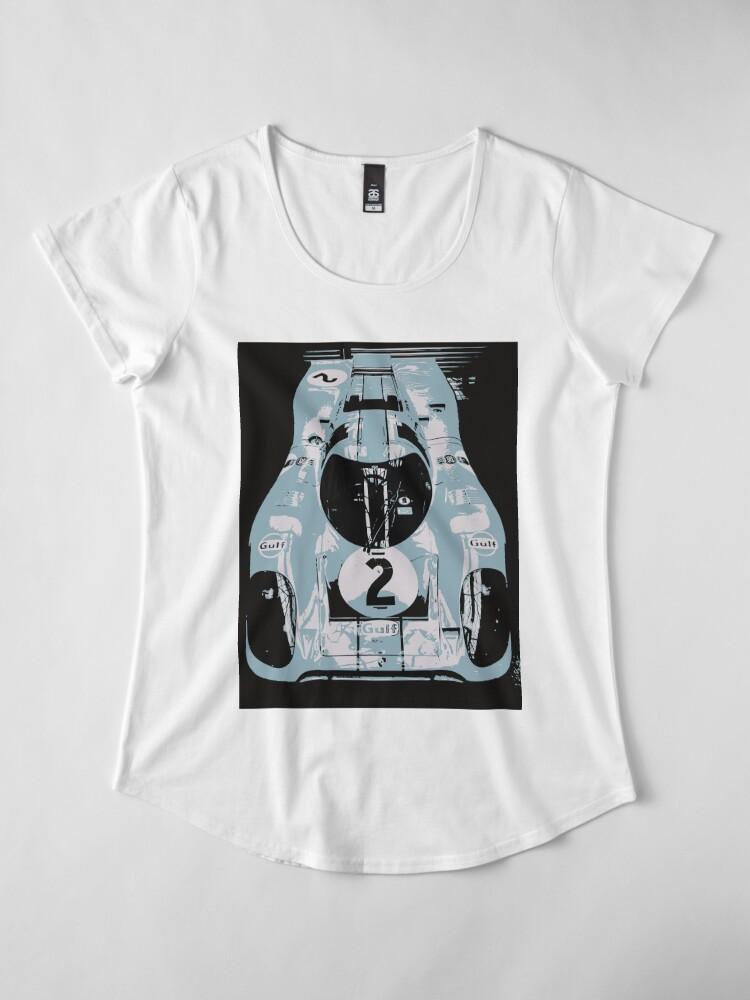 Alternate view of Porsche 917K - RACE CAR - LE MANS - MOTORSPORT Premium Scoop T-Shirt