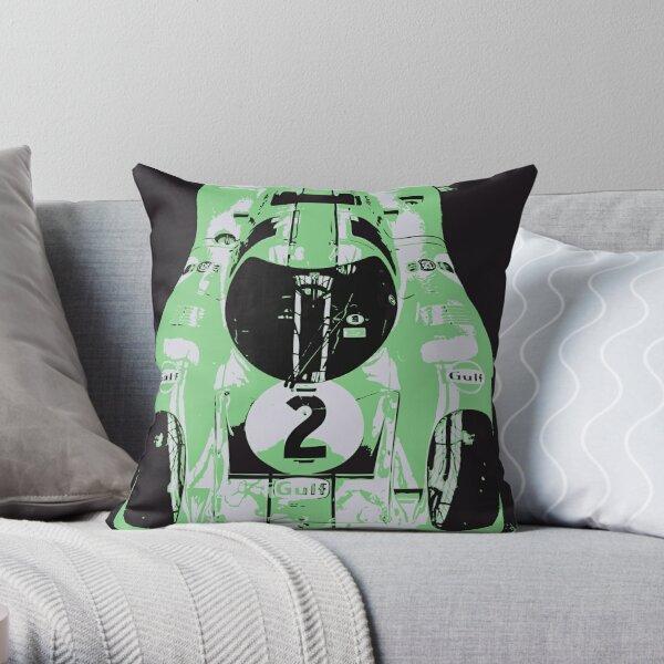 Porsche 917K - RACE CAR - LE MANS - MOTORSPORT Throw Pillow