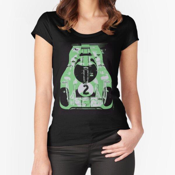 Porsche 917K - RACE CAR - LE MANS - MOTORSPORT Fitted Scoop T-Shirt