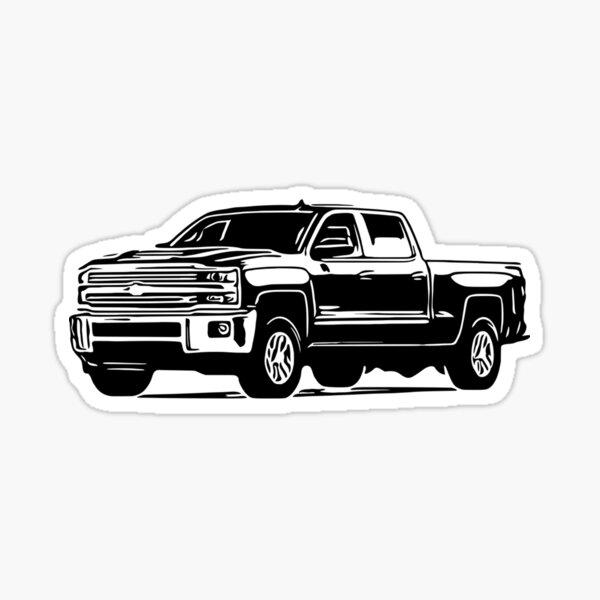 Camioneta Chevy Silverado Pegatina
