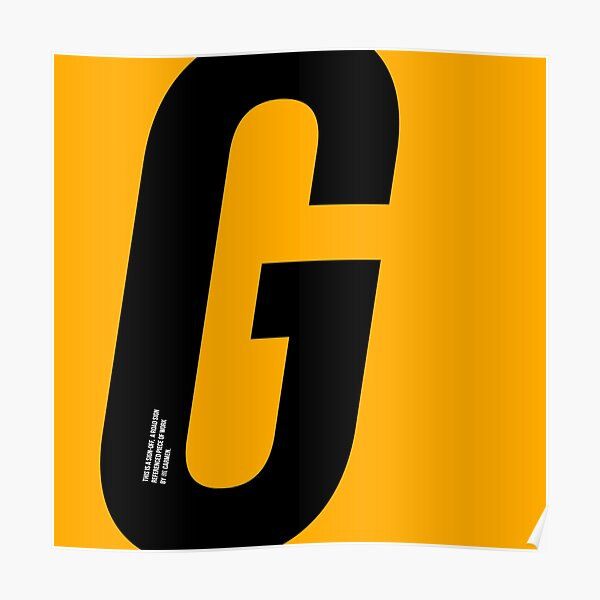 G sign Poster