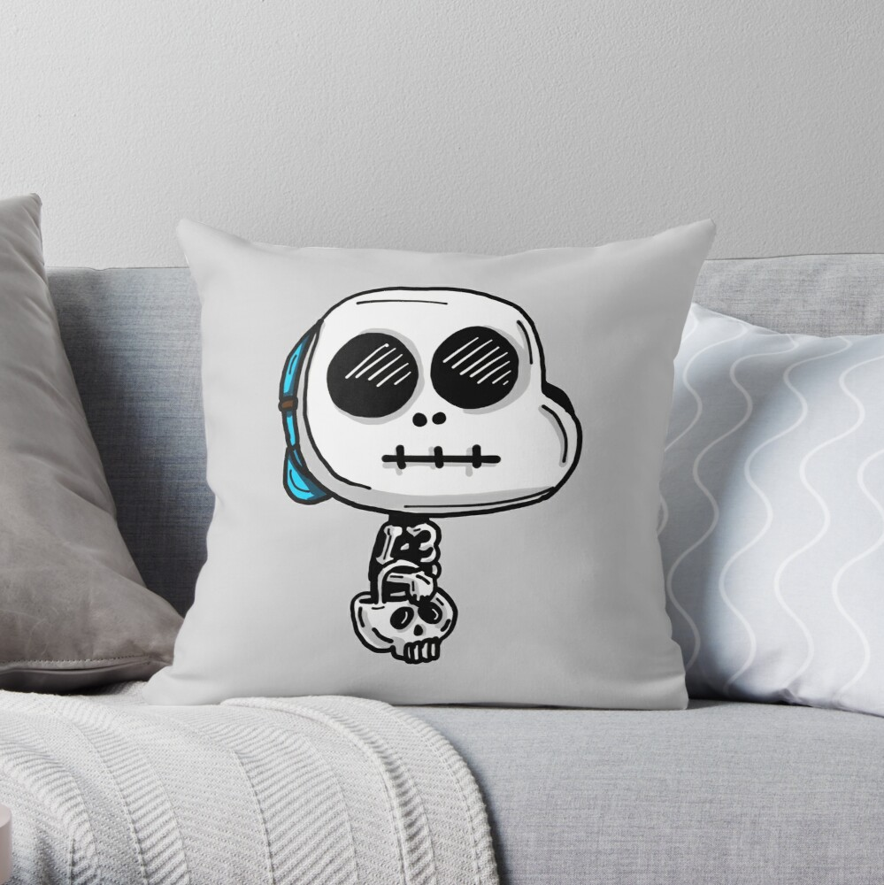 Gumball Watterson from The Amazing World of Gumball™ wearing a Halloween Skeleton Costume Throw Pillow