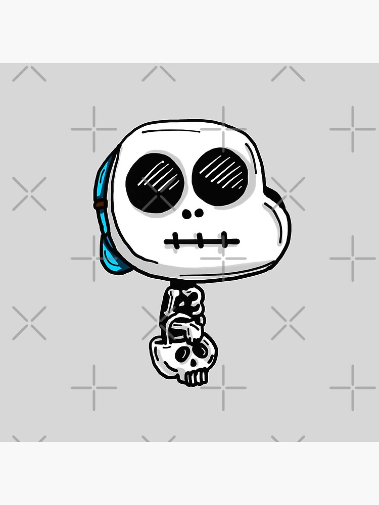 Gumball Watterson from The Amazing World of Gumball™ wearing a Halloween Skeleton Costume by sketchNkustom