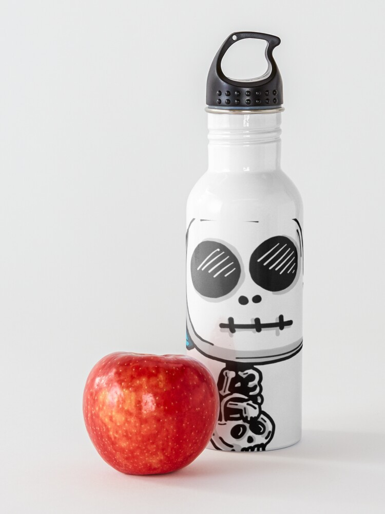 Alternate view of Gumball Watterson from The Amazing World of Gumball™ wearing a Halloween Skeleton Costume Water Bottle