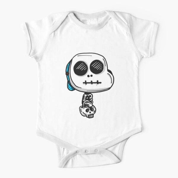 Gumball Watterson from The Amazing World of Gumball™ wearing a Halloween Skeleton Costume Short Sleeve Baby One-Piece